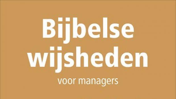 Boekrecensie: Bijbelse wijsheden voor managers