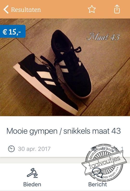 sneakers of snikkels marktplaats