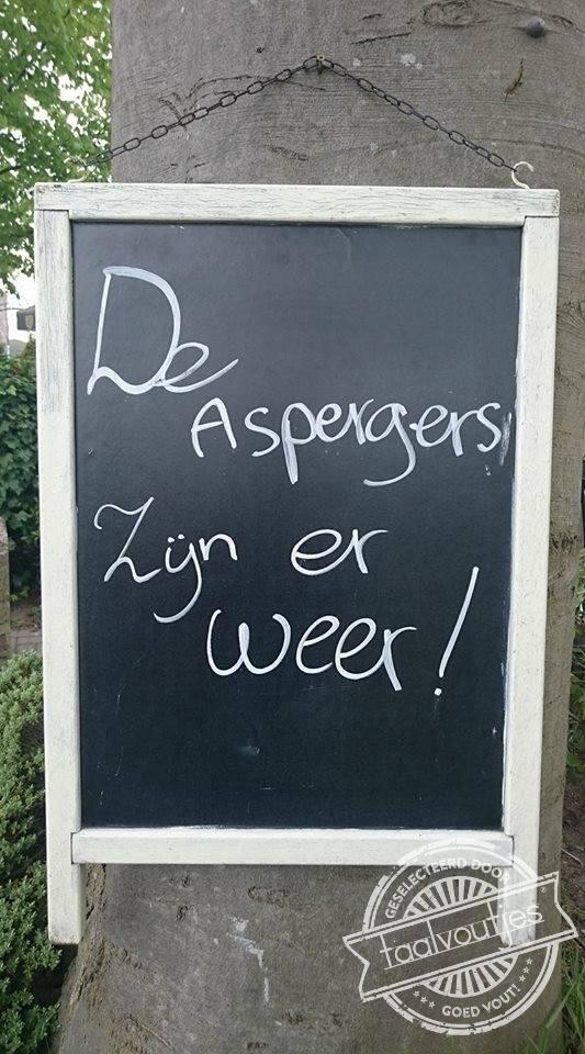 aspergers of asperges?