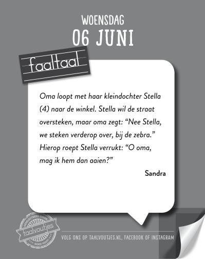 Faaltaal scheurkalender 2018