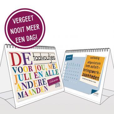 Taalvoutjes - de tafelkalender