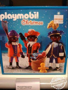 Leuk, als Zwarte Piet verklede rendieren!