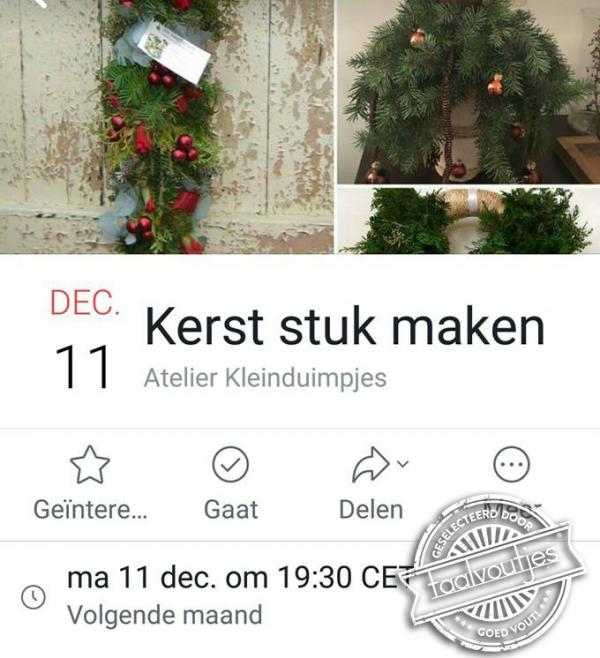 Kerst stuk maken