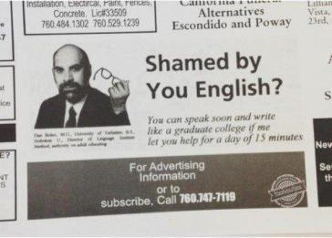 Als iedereen hier les neemt, kunnen wij een Engelstalige versie van Taalvoutjes oprichten.