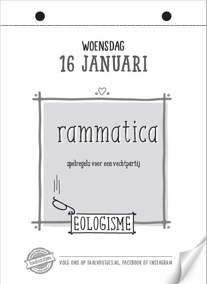 Taalvoutjes-scheurkalender eologisme