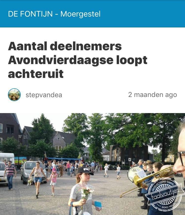 aantal deelnemers avondvierdaagse loopt achteruit