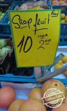 Dit fruit haalt een geintje uit.