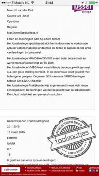 Een nieuwe docent Nederlands zou ook niet misstaan.