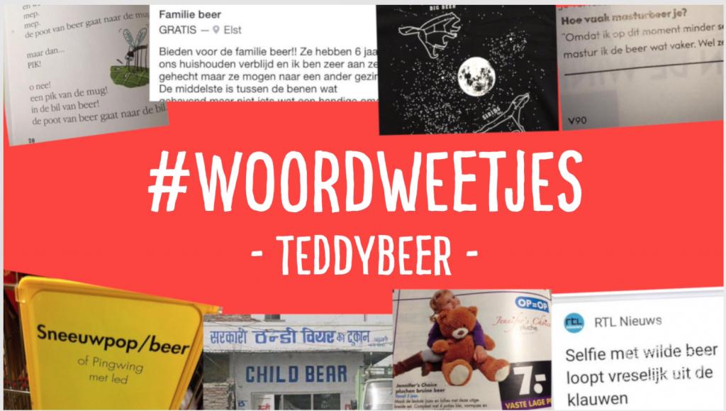 Taalvoutjes #woordweetje: Teddybeer
