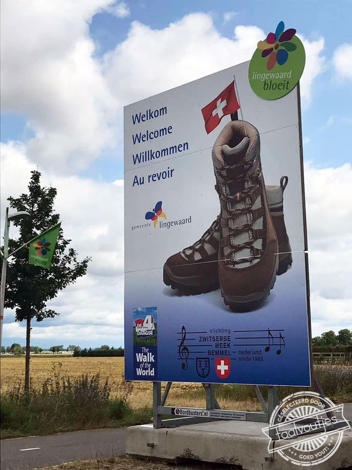 Welkom au revoir Nijmeegse Vierdaagse Lingewaard